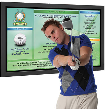 golf digital signage